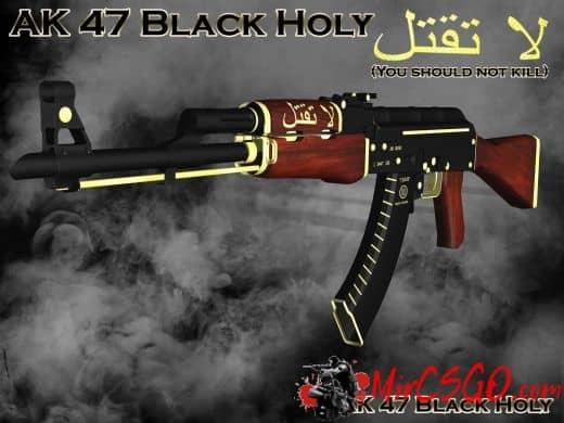 AK 47 Black Holy Модель кс го