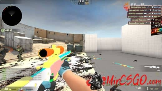 AWP Colorful Skins RaiNbow Dash Модель кс го