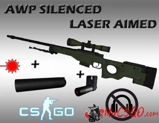 AWP Silenced+laser aim Модель кс го