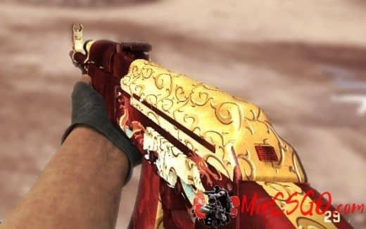 AK47 Red-Gold Dragon Модель кс го