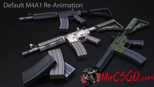 Default M4A1 Re-Animation Модель кс го