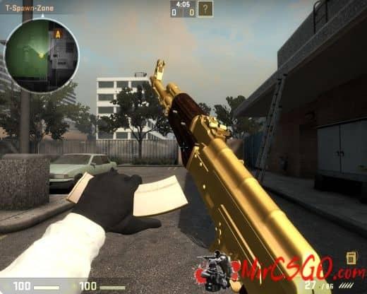 Golden Ak47 Модель кс го