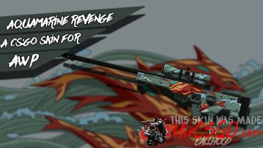 AWP-Aquamarine Revenge Модель кс го