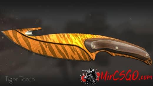 Нож с лезвием крюком кс го тигр
