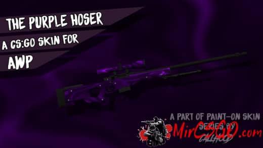 The Purple Hoser-AWP Skin Модель кс го