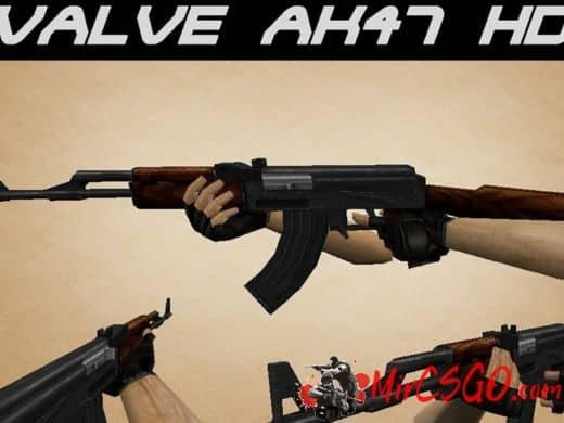 HD AK-47 модель оружия кс 1.6