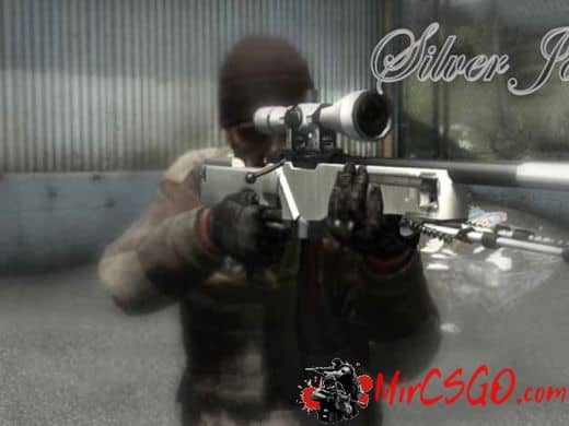 AWP - Silver Janitor модель оружия кс го
