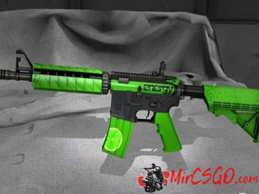 M4A4 — Lime модель оружия кс го