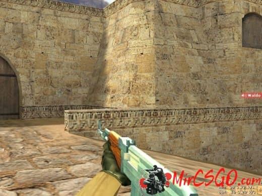 Ak47 Full Blue Gem модель оружия кс 1.6