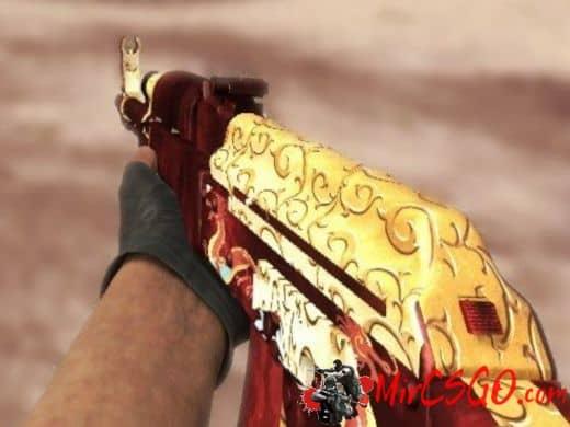 AK47 - Red-Gold Dragon модель оружия кс го