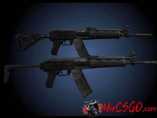 AK74 Animations модель оружия кс 1.6