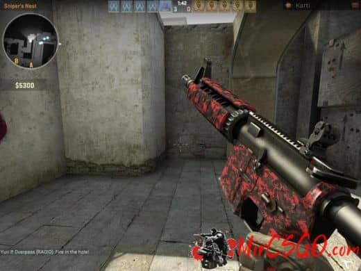 M4A1 - Red Digital оружия кс го