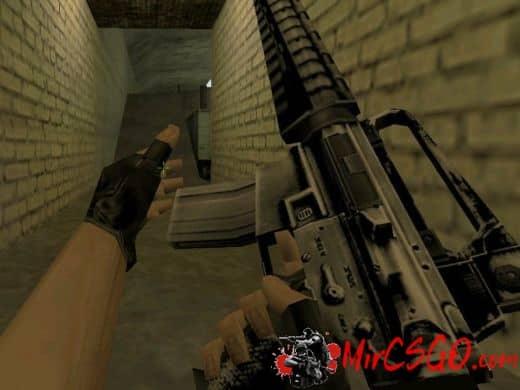 M16 Grey Hacked модель оружия кс 1.6