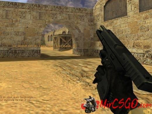 Glock somewhat of realistic модель оружия кс 1.6